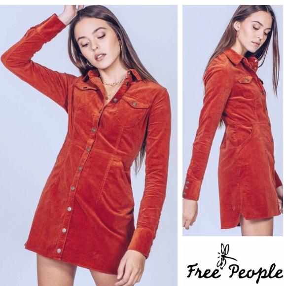 39ce9887ea NWT Free People Dynamite in Cord Mini Dress